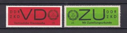 DDR - 1965/66 - Dienstmarken D/E - Michel Nr. 3 + 2 - [6] República Democrática