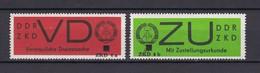 DDR - 1965/66 - Dienstmarken D/E - Michel Nr. 3 + 2 Mit ZKD 4a Aufdruck - Dienstpost
