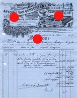 TURNHOUT SPEELKAART CARTES  à JOUER  Ant. Van  Genechten / Imprimerie 1904 - Imprenta & Papelería