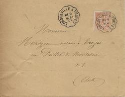 1902 Conv. Ligne LONGUEVILLE A TROYES   Sur 15 C Mouchon - Poste Ferroviaire