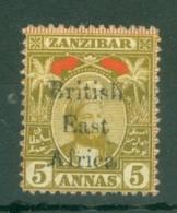 British East Africa: 1897   Sultan - 'British East Africa' OVPT    SG84    5a     MH - Africa Orientale Britannica