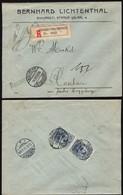 Romania -  Registered Cover, 'BERNHARD LICHTENTHAL' (Mi. 215) Bucuresti 16.11.1910 - Raschau, Germany. - Covers & Documents