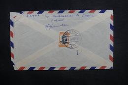 AFGHANISTAN - Enveloppe De Kaboul Pour La France En 1958, Affranchissement Plaisant Au Verso - L 37606 - Afghanistan