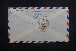 AFGHANISTAN - Enveloppe De Kaboul Pour La France En 1958, Affranchissement Plaisant Au Verso - L 37607 - Afghanistan