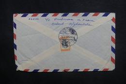 AFGHANISTAN - Enveloppe De Kaboul Pour La France En 1958, Affranchissement Plaisant Au Verso - L 37611 - Afghanistan