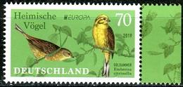 BRD - Mi 3463 - ** Postfrisch (Q) - 70C      CEPT 19, Heimische Vögel, Ausgabe: 02.05.2019 - Ungebraucht