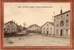 CPA - ETIVAL (88) - Aspect Du Carrefour De La Bascule Et De La Route De Rambervillers Dans Les Années 20 - Etival Clairefontaine