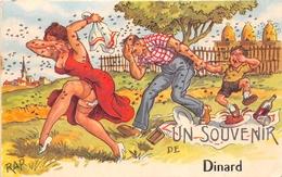 """¤¤    -   DINARD  -  Un Souvenir De ...........   -  Illustrateur """" RAP """" , Jean CHAPERON  -  Abeilles , Ruches  -   ¤¤ - Dinard"""