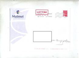 Pap Luquet Flamme Chiffree Sous Code Entete Matmut - Entiers Postaux