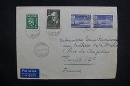 FINLANDE - Enveloppe De Helsinki Pour La France En 1952 , Affranchissement Plaisant - L 37627 - Lettres & Documents