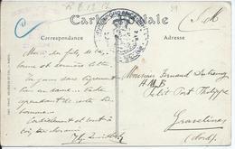 Zichtkaart CAEN Verstuurd Naar HMB Petit Fort PHILIPPE Gravelines - Nevenstempel SERVICE DE L'AUMONERIE D.C. CAEN - Non Classés