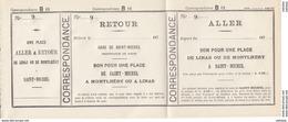 Billet De Diligence Transports Meyer Années 1870 Montlhery Linas Saint Michel Sur Orge TRES RARE - Titres De Transport