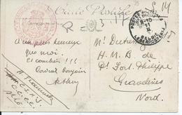 Zichtkaart St.Lo Verstuurd Naar HMB Petit Fort PHILIPPE Gravelines - Nevenstempel CORRESPONDANCE PRIVEE In Rood - Non Classés