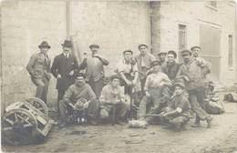Cpa Carte-photo – Groupe D'hommes, Ouvriers, Mécanique  ( CPH ) - Cartes Postales