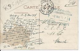 Zichtkaart Soligny-la-trappe Verstuurd Naar Soldat Belge C.C.C.C. St. Lô - Nevenstempel HOPITAL COMPLEMENTAIRE No.54 - Non Classés