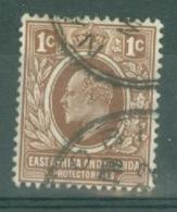East Africa & Uganda Protectorates: 1907/08   Edward    SG34   1c    Used - Kenya, Uganda & Tanganyika