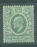 East Africa & Uganda Protectorates: 1907/08   Edward    SG35   3c   Grey-green   MH - Kenya, Uganda & Tanganyika