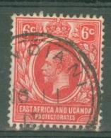 East Africa & Uganda Protectorates: 1912/21   KGV    SG46   6c   Red   Used - Kenya, Uganda & Tanganyika