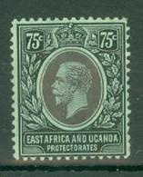 East Africa & Uganda Protectorates: 1912/21   KGV    SG52a   75c   Black/green  [white Back]   MH - Kenya, Uganda & Tanganyika