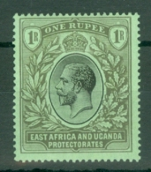East Africa & Uganda Protectorates: 1912/21   KGV    SG53   1R   MH - Kenya, Uganda & Tanganyika