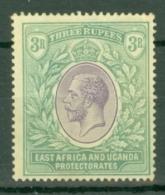 East Africa & Uganda Protectorates: 1912/21   KGV    SG55   3R   MH - Kenya, Uganda & Tanganyika