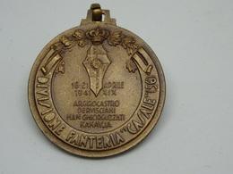 Medaglia Divisione Fanteria Casale 56 - 18-21 Aprile 1941  - I Gialli Del Calvario Al Fronte Greco Albanese - Altri