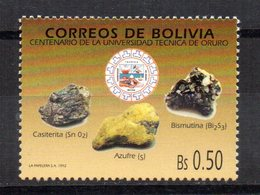 Sello  Nº 800 Bolivia - Minerales