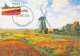 D37772 CARTE MAXIMUM CARD FD 2016 NETHERLANDS - DUTCH MILL HILLEGOM BULB DISTRICT CP ORIGINAL - Windmills