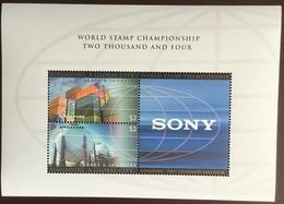 Singapore 2004 World Stamp Championship Sony Minisheet MNH - Singapore (1959-...)