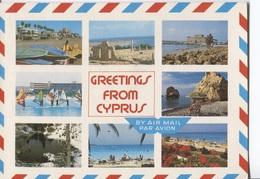 Greetings From Cyprus - Groeten Uit ... - 8 Photo's On Card  - Ed Triarchos Nr 494 - Chipre
