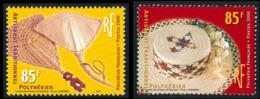 POLYNESIE 2000 - Yv. 627 Et 628 **   Faciale= 1,43 EUR - Artisanat Traditionnel : Chapeau Et Eventails  ..Réf.POL24151 - Ungebraucht