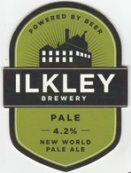 ILKLEY BREWERY (ILKLEY, ENGLAND) - PALE NEW WORLD PALE ALE - PUMP CLIP FRONT - Uithangborden