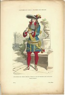 Gravure Ancienne Costumes De Paris Seigneur Du XVIII ème Siècle  Nobles Noblesse  Noble H. Rousseau Graveur - Old Paper
