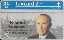 PTT: K-93/91A 344L Konrad Adenauer, 1. Deutscher Bundeskanzler. Mint - Schweiz