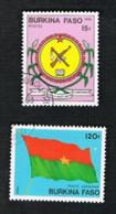 BURKINA FASO    -   SG 750.753   -  1985  NATIONAL SYMBOLS       - USED ° - Burkina Faso (1984-...)