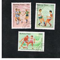 BURKINA FASO    -   SG 758.761  -  1985  WORLD CUP FOOTBALL      - USED ° - Burkina Faso (1984-...)