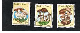 BURKINA FASO    -   SG 823.826  -  1985  MUSHROOMS      - USED ° - Burkina Faso (1984-...)
