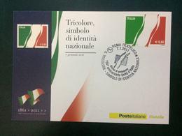 CARTOLINA FDC - Foglietto Italia 1861-2011 150° Anniversario Unità D'Italia 2011 - 6. 1946-.. Repubblica
