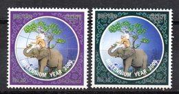 Serie Nº 1477/8 Bhutan - Elefantes