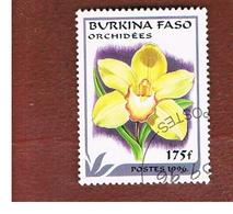 BURKINA FASO    -   MI 1424  -  1996  FLOWERS: ORCHIDS (CYMBIDIUM)  - USED ° - Burkina Faso (1984-...)