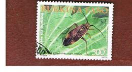 BURKINA FASO    -   MI 1848  -  2002  INSECTS: LYGUS LINEOLARIS)  - USED ° - Burkina Faso (1984-...)