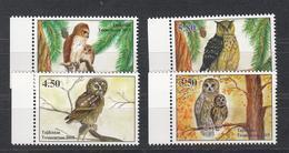 Tajikistan Tadschikistan MNH** 2019 Owls Eulen  Mi 839-842 A - Tadschikistan