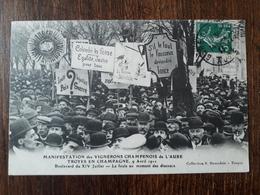 L23/100 TROYES EN CHAMPAGNE  - MANIFESTATION DES VIGNERONS CHAMPENOIS DE L'AUBE - 1911 - Troyes