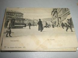 CARTOLINA TRIESTE-VIA TORRENTE - Strassenbahnen