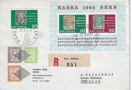 "Switzerland 1965  ""NABRA 1965""   Mi.812 + Bl0ck 20 - Covers & Documents"
