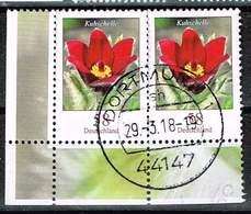 Bund 2012, Michel# 2968 O Blumen: Kuhschelle Waagerechtes Paar, Linke Untere Ecke - [7] République Fédérale