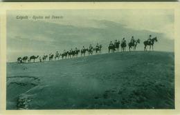 AFRICA - LYBIA / LIBIA - TRIPOLI - SPAHIS NEL DESERTO - EDIZIONE BENEDETTO MEIGHDESC - FOT. BRAGONI - 1920s (BG3911) - Libye
