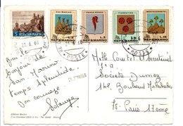 SAINT MARIN CARTE DE NITRA POUR LA FRANCE 1960 - Lettres & Documents
