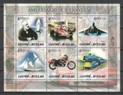 Guine Bissau 2005 Kleinbogen Mi 2865-2870 MNH MEANS OF TRANSPORT - CONCORDE - JULES VERNE - Concorde