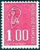 France N° 1892 B ** Marianne De Béquet. Variété Du 1f00 Rouge -> Sans Bande De Phosphore - Nuevos